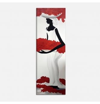 PASES - Quadro moderno donna con fiori