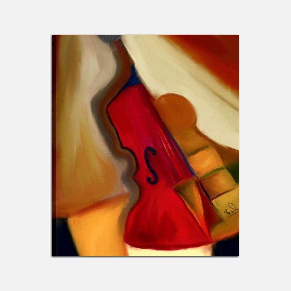 Quadro dipinto a mano su tela con raffigurazione di un violino - Immagini violino a colori ...