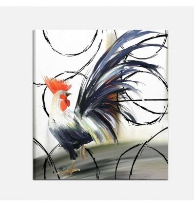 Quadri moderni con animali - Il Gallo