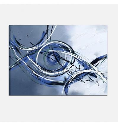 Quadro astratto dipinto a mano - Oltre il Confine