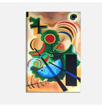 KANDINSKY SOLID GREEN- Abstract paintings