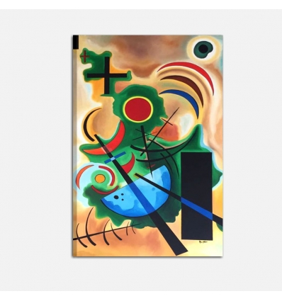 Kandinsky Solid Green Abstract Paintings I Colori Del