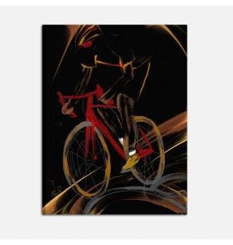 Quadro moderno dipinto a mano - Il ciclista