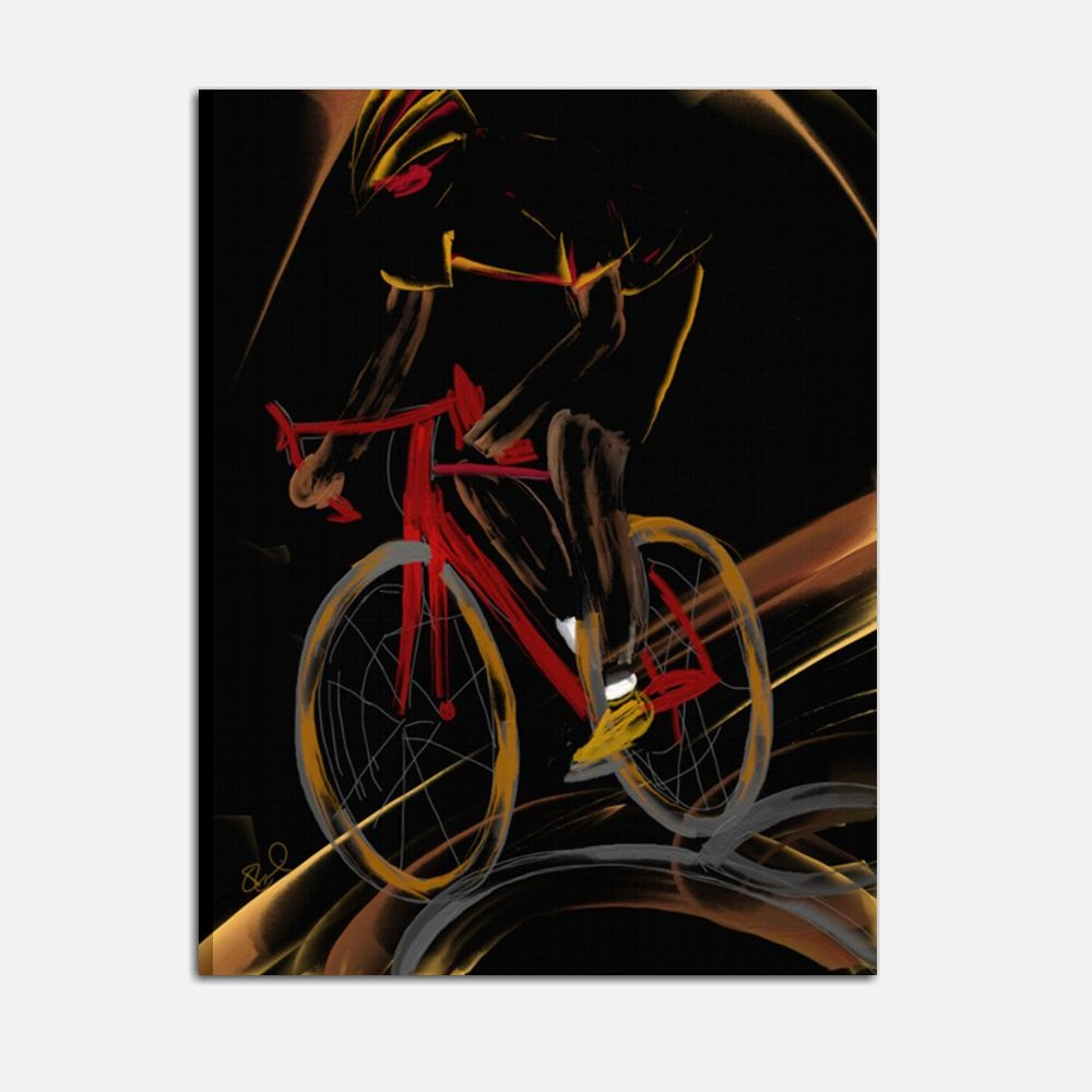 Cuadros modernos Il ciclista I Colori del Caribe
