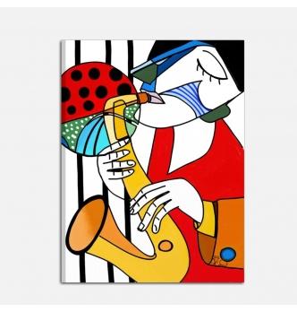 Quadro moderno - amo il sax