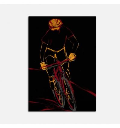 Quadri dipinti a mano sport - ciclista 2