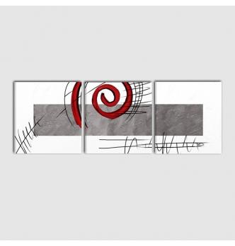 RUDY - Quadro astratto bianco e nero