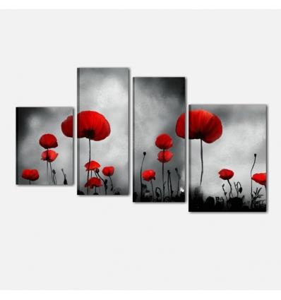INFINITY - Cuadros modernos con flores amapolas