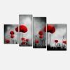 INFINITY- Quadri moderni con fiori papaveri