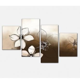 Cuadros modernos con flores - LORA 2