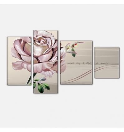 ROMANTICA - Quadro moderno con rosa