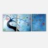 ALBERO - Cuadros triptico con arbol azul