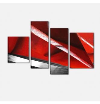 BLUMAS - Cuadros abstractos rojo