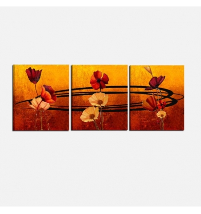 Quadro con fiori componibile per salone o camera da letto - Libeccio