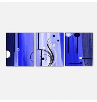 BLUMA - Cuadros abstractos tripticos blu
