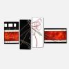 POETICA - Quadri moderni rosso nero