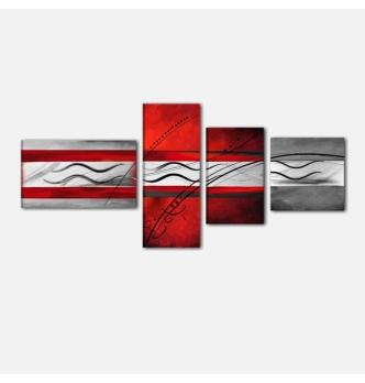 BODER - Quadri astratti rosso