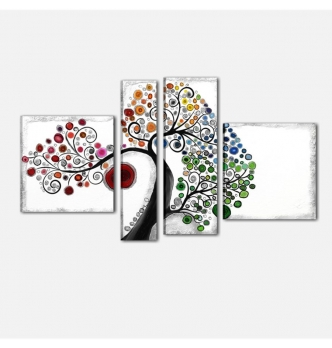 SPRING - Quadri astratti moderni materici albero