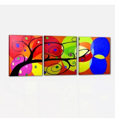 Albero dei colori -cuadros abstractos tripticos