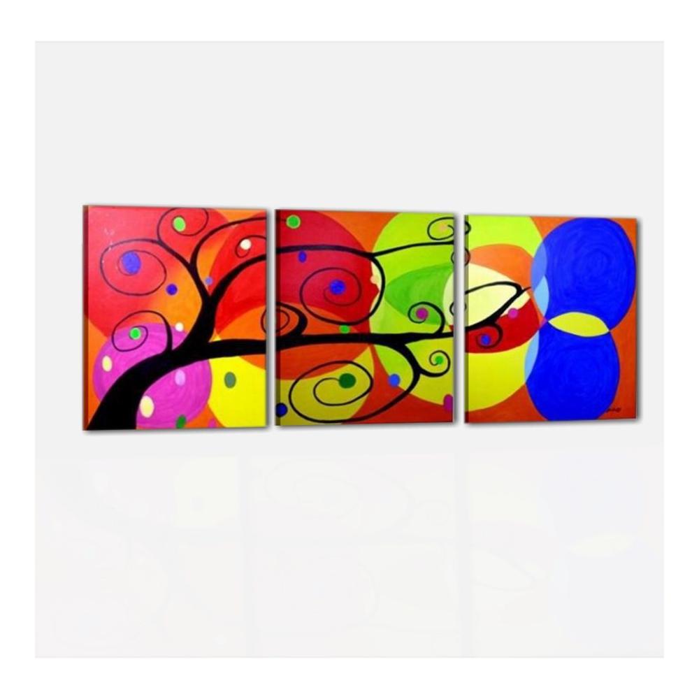 Quadri astratti colorati albero dei colori for Colori moderni
