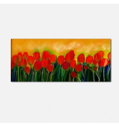 Cuadros pintado a mano con flore - TULIPANI