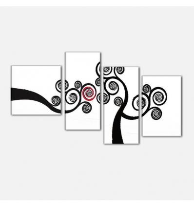 ACILIA - Cuadros modernos blanco y negro