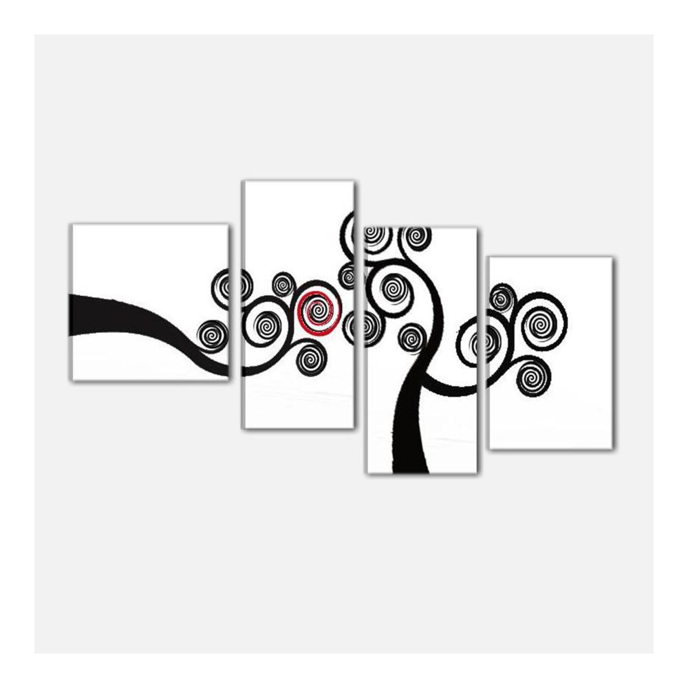 Quadri moderni con albero bianco e nero acilia alta for Quadri in bianco e nero moderni