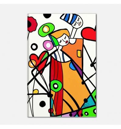 Quadro moderno dipinto a mano pop art - pittaco
