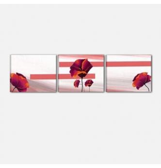 quadro trittico fiori