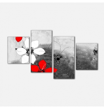 LORA - Quadro moderno con fiori