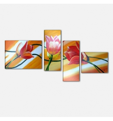 RIMINI - Modern painting with floral elements