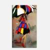 Quadro moderno - Donna sotto l'ombrello 2
