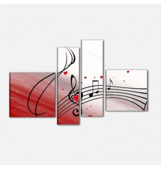 NOTE MUSICALI - cuadros modernos musica
