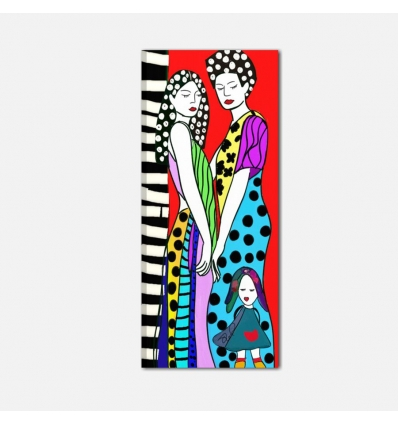 Quadro pop art dipinto a mano - Nanty