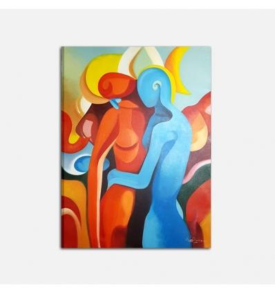 Quadro dipinto a mano - Il calore di un abbraccio