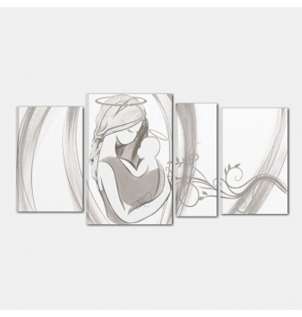 quadro capezzale dipinto a mano - Amore puro