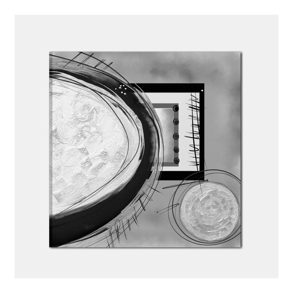 Quadri astratti dipinti a mano grigio nero con materico rilievo