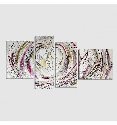 Quadro capezzale dipinti a mano - Cuore 2