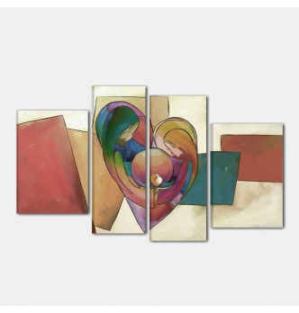 Capezzale dipinto a mano - Amore e famiglia