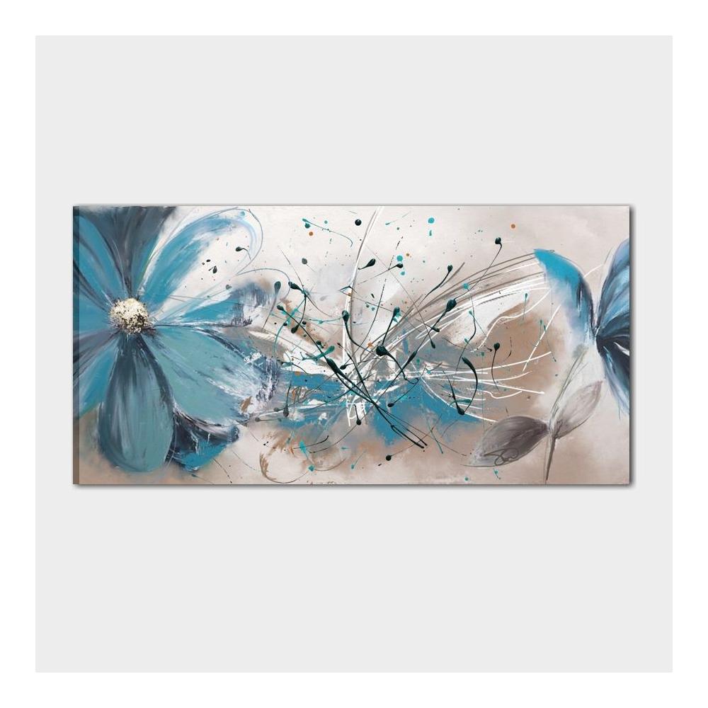 Quadro moderno dipinto a mano con raffigurazione di fiori