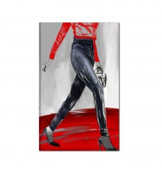 MUJER - Quadri moderni colorati  donna