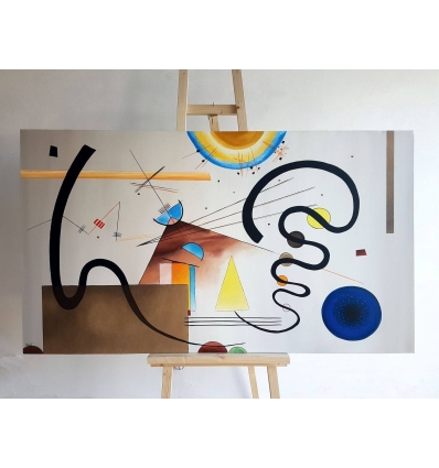 Omaggio a  KANDINSKY - Two moviments Quadro astratto