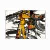 BENNIS - Quadri moderni viola con fiori