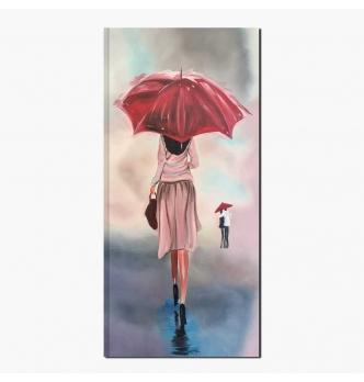 RAIN - Quadro donna sotto la pioggia