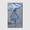 Quadro moderno - Donna sotto la pioggia