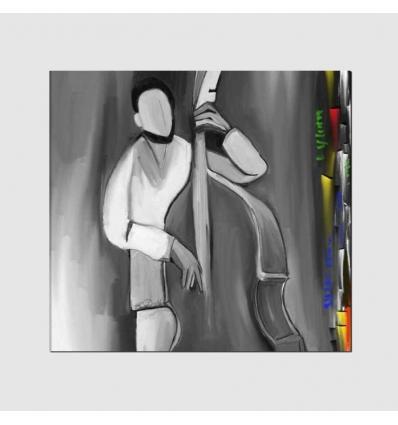 CONTRABBASSO - Cuadro pintado a mano