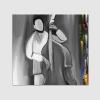 CONTRABBASSO - Quadro dipinto a mano