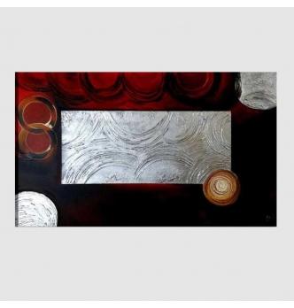 DORIAN 2 - Modern painting black red