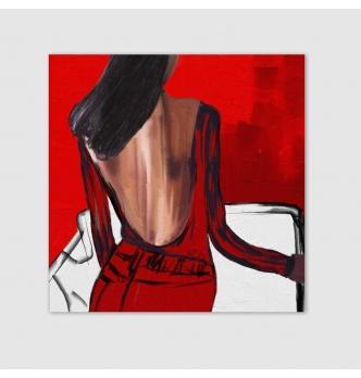 Cuadro pintado a mano - Micaela