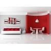 CAMILLA - Quadri astratti bianco rosso